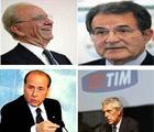 Murdoch, Prodi, Berlusconi e Tronchetti