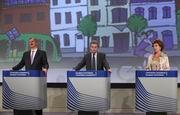 Siim Kallas, Günther Oettinger e Neelie Kroes