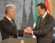 Mario Monti e Mariano Rajoyed