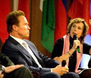 Arnold Schwarzenegger e Connie Hedegaard