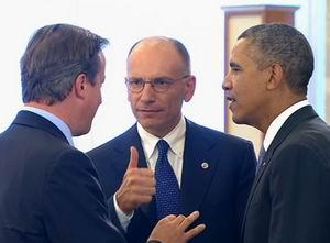 Cameron, Letta e Obama