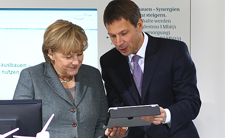 Angela Merkel e René Obermann