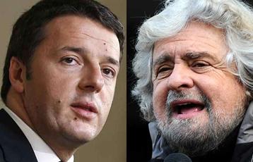 Matteo Renzi vs Beppe Grillo