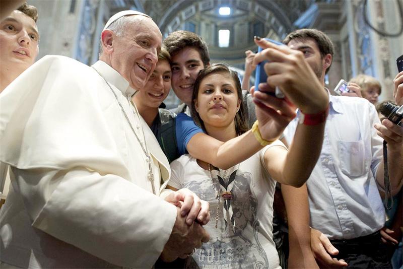 Selfie papale