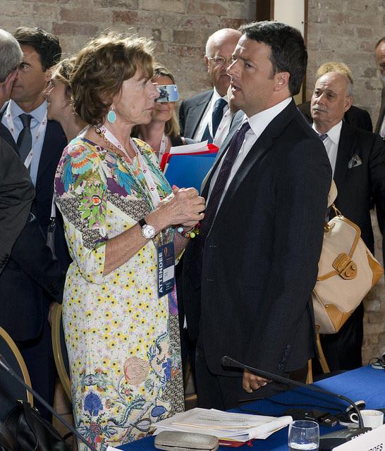 Matteo Renzi Neelie Kroes