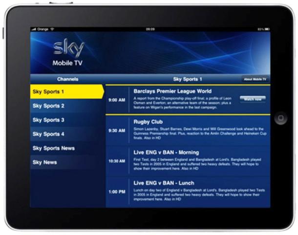 Sky TV su 3 Italia
