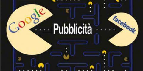 Pubblicità, Google e Facebook si mangiano il mercato italiano