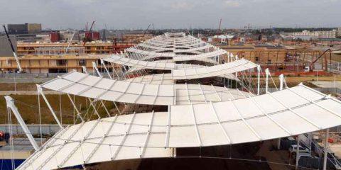 Telecom Italia, grazie ai droni prime immagini dal cantiere dell'Expo 2015