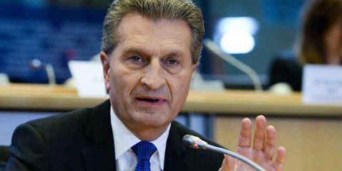 Günther Oettinger: 'Priorità a infrastrutture e diritto d'autore'