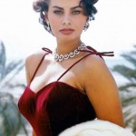 Sophia Loren il giorno del suo 48mo compleanno
