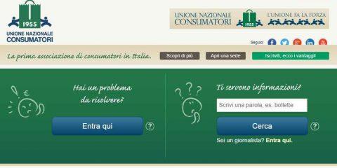 Unione Nazionale Consumatori, nuova pagina online per reclami e segnalazioni