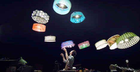 Droni-lampadario in scena con il Cirque du Soleil (Videonews)