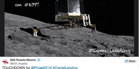 L'atterraggio di Rosetta: un successo tutto europeo (videonews)