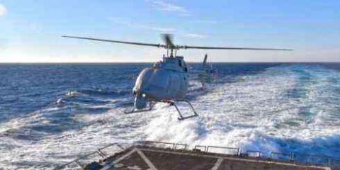 Primo volo di un drone elicottero della Marina Usa  (video)