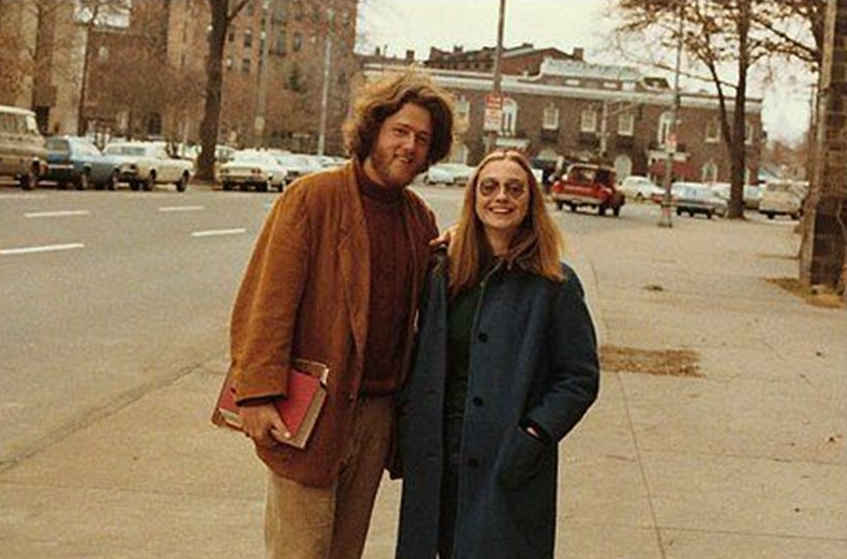 Bill and Hillary Clinton as students 1972