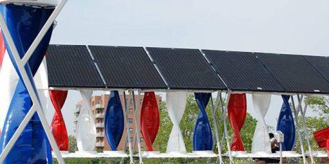 SolarMill, l'impianto ibrido eolico e solare