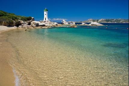 la spiaggia del faro di Palau