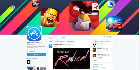 Apple lancia un canale Twitter dedicato ai videogiochi