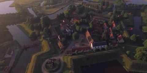 Video droni. Fort Bourtange (Olanda) visto dal drone