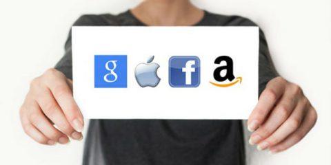 Google, Facebook, Apple e Amazon: nel 2020 saranno la prima potenza economica mondiale