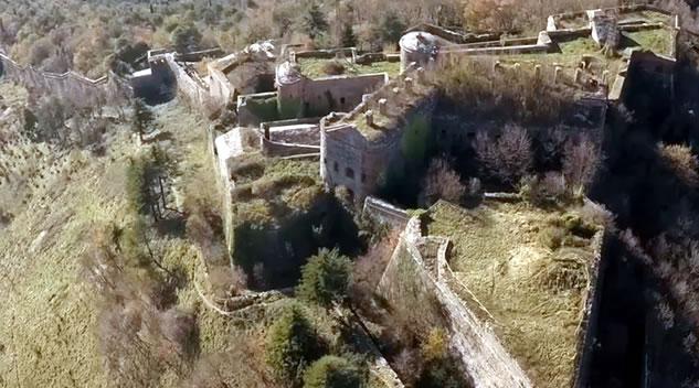 I forti dell'entroterra di Genova visti dal drone