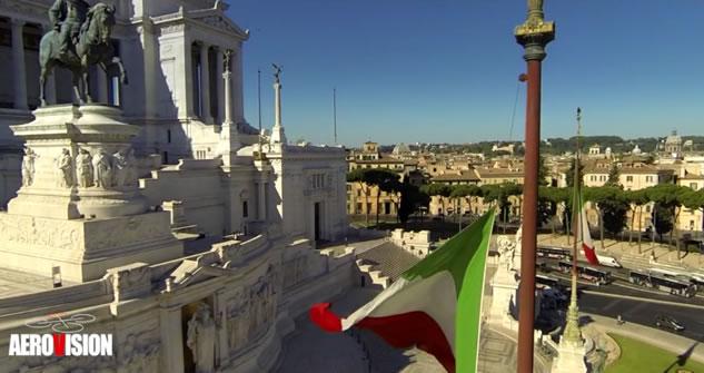 roma vista dal drone