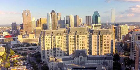 Video Droni. Dallas vista dal drone