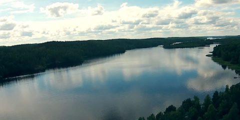 Video Droni. Finlandia: il lago SaimaaI visto dal drone