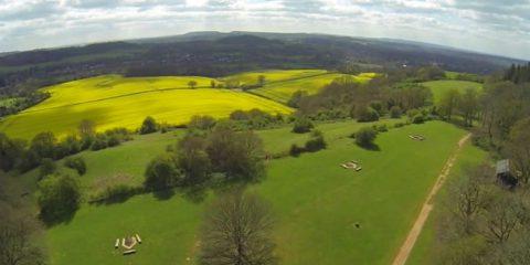 Video Droni. La campagna inglese (Surrey) vista dal drone