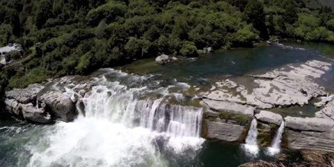 Video Droni. Le cascate di Maruia (Tasmania) viste dal drone