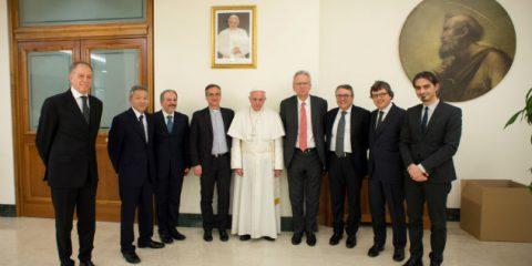 Papa Francesco a Eutelsat, Globecast e Sony: sostenete la riforma dei media
