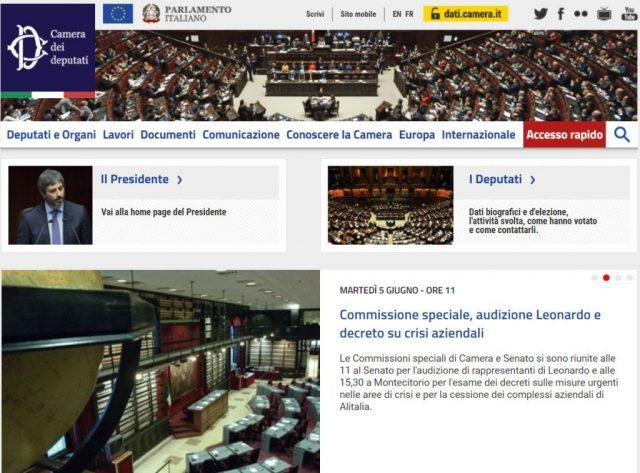 Pi informazione e contenuti multimediali dal for Camera deputati web