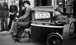 Ciclo taxi artigianale a Copenaghen durante l'occupazione nazista