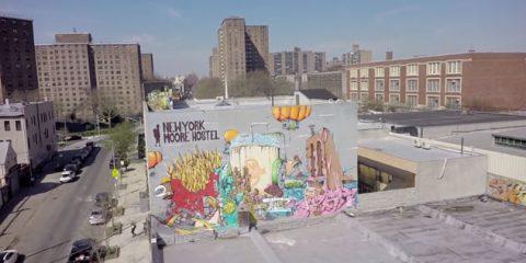 Video Droni. I graffiti di Brooklyn (New York) visti dal drone