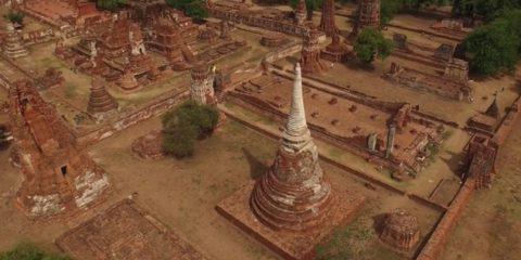 Video Droni. Ayuthaya, antica capitale della Tailandia, vista dal drone