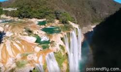 La Cascata di Tamul (Messico) vista dal drone