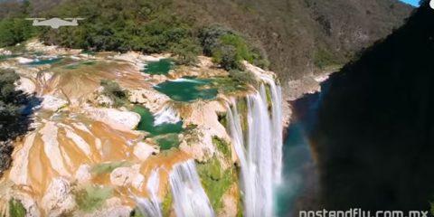 Video Droni. La Cascata di Tamul (Messico), una delle più belle del mondo, vista dal drone