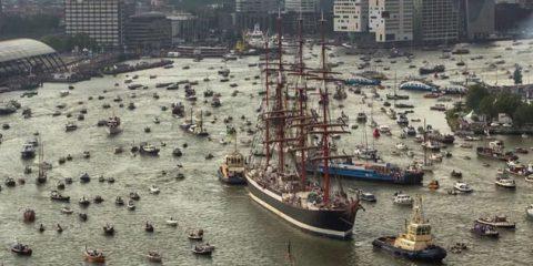 Video Droni. Il porto di Amsterdam in Timelapse visto dal drone