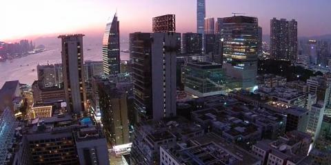 Video droni. Hong Kong vista dal drone