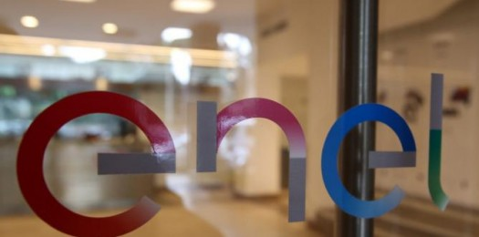 The new logo of Italy's biggest utility Enel  is seen at the Rome's headquarter, Italy, March 24, 2016. REUTERS/Stefano Rellandini