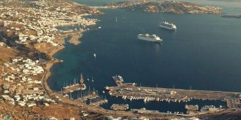 Video droni. Isole di sogno: Mykonos (Grecia) vista dal drone