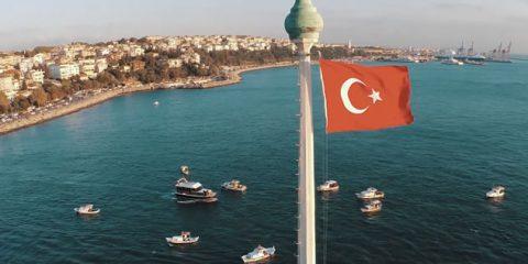 Video droni. Istanbul vista dal drone