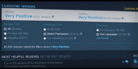 Steam cambia la politica sulle recensioni degli utenti