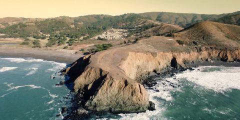 Video droni. Mori Point (California) vista dal drone
