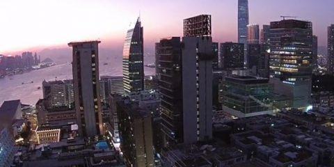 Video droni. Hong Kong (Cina) vista dal drone