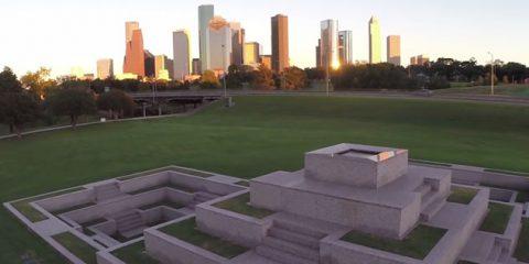 Video droni. Houston (Texas) vista dal drone