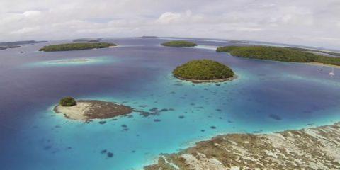 Video droni. L'isola di Tonga (Polinesia) vista dal drone