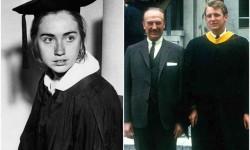 Hillary Clinton e Donald Trump il giorno della laurea, rispettivamente nel 1969 e nel 1968