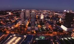 La città di Tampa (Florida) vista dal drone