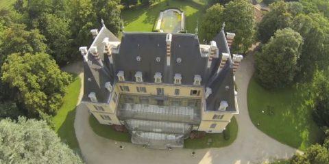 Video droni. Il Castello di Rajat a St Pierre de Chandieu (Francia)